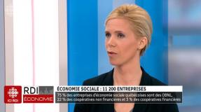 Interview de Béatrice Alain, Directrice du Chantier de l'économie sociale (ICI RDI)