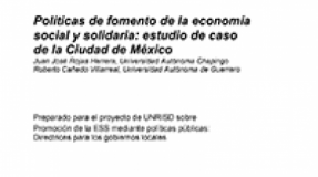 Policies to promote the Social and Solidarity Economy: Case study of Mexico City